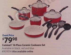 Cuisinart 14-PC Ceramic Cookware Set