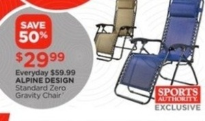Alpine Design Standard Zero Gravity Chair