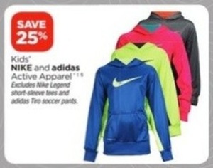 Nike and adidas Kids' Active Apparel