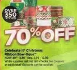 Celebrate It Christmas Ribbon Bow-tique