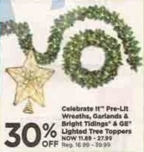 Bright Tidings & GE Lighted Tree Toppers