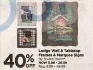 Studio Decor Lodge Frames and Marquee Signs