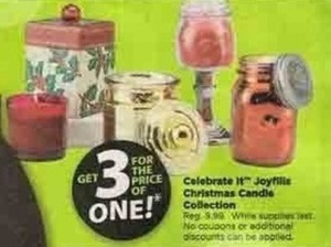 Celebrate It Joyfills Christmas Candle Collection