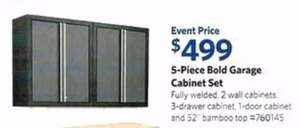 5-Piece Bold Garage Cabinet Set
