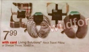 Living Solutions Neck Travel Pillow