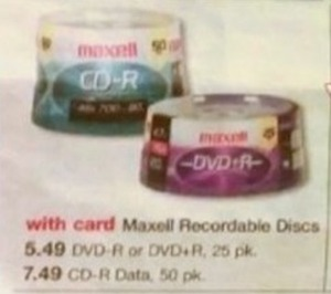Maxell Recordable DVD-R or DVD+R Discs