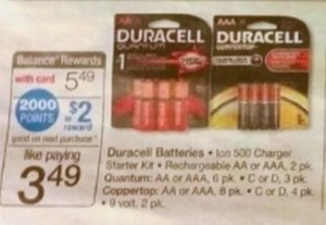 Duracell Batteries + $2 Register Rewards