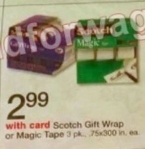Scotch Gift Wrap or Magic Tape
