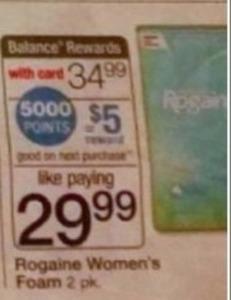 Rogaine Women's Foam + $5 Register Rewards