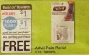 Advil Pain Relief 4-Count Tablets + $1 Register Rewards