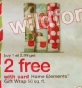Home Elements Gift Wrap