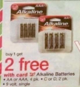 Walgreens Alkaline Batteries