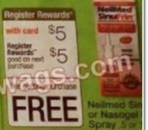 Neilmed Sinus or Nasogel Spray +$5 Register Rewards