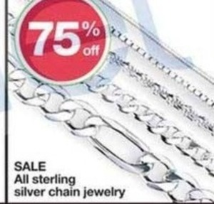 Sterling Silver Chain Jewelry