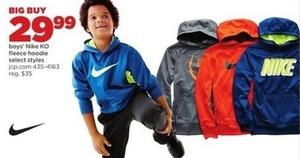Boys' Nike KO Fleece Hoodie