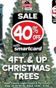 4ft. and Up Christmas Trees w/ Smartcard