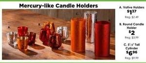 Mercury-like Round Candle Holder