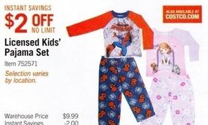 Licensed Kids' Pajama Set
