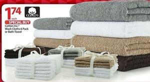 Cotton Inc. Wash Cloths 6 Pack