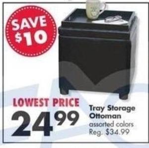 Tray Storage Ottoman