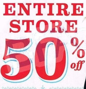 Entire Store (Thursday & Friday)