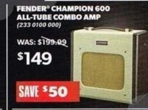 Fender Champion 600 All-Tube Combo Amp