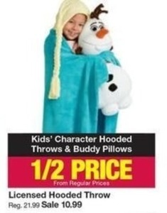 Licesnsed Hooded Throws & Buddy Pillows