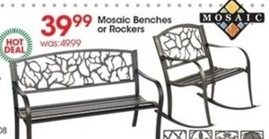 Mosaic Benches or Rockers