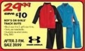 Under Armour Boys' or Girls' Track Suits