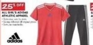 All Adidas Girls' Athletic Apparel