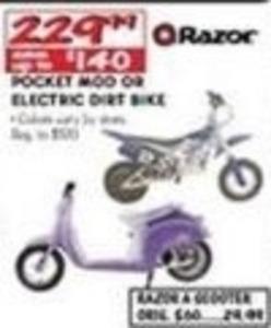 Razor Pocket Mod or Electric Dirt Bike