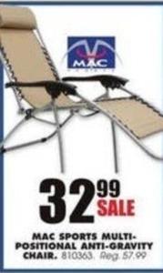 Mac Sports Multi-Positional Anti-Gravity Chair