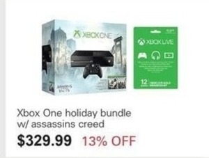Xbox One Holiday Bundle w/ Assassins Creed