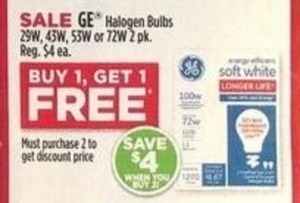 GE Halogen Bulbs