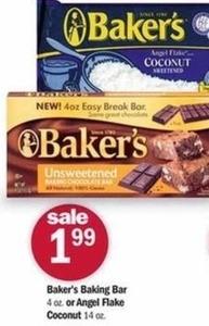 Baker's Baking Bar or Angel Flake Coconut