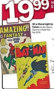 DC or Marvel Light Up Canvas