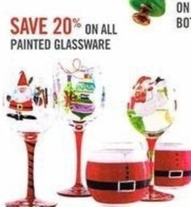 All Painted Glassware
