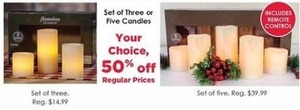 Set of Three or Five Candles