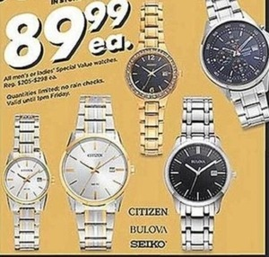 All Men's or Ladies Special Value Watches