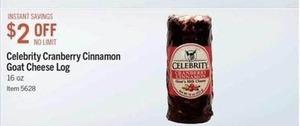Celebrity Cranberry Cinnamon Goat Cheese Log