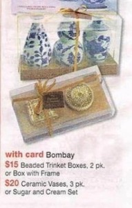 Bombay Beaded Trinket Boxes w/ Card