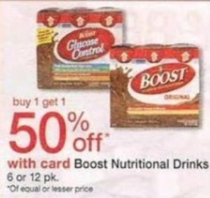 Boost Nutritional Drinks w/ Card