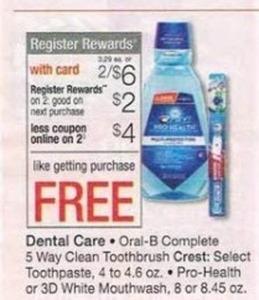 Dental Care w/ Card + $2 Register Rewards