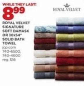 Royal Velvet Signature Soft Damask Solid Bath Towel