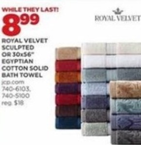 Royal Velvet Egyptian Cotton Solid Bath Towel