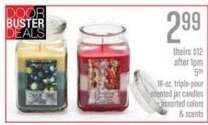 Triple Pour Scented Jar Candles