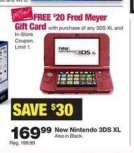 Nintendo 3DS XL + Free $20 FM Gift Card