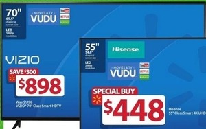 "Hisense 55"" Class Smart 4K UHD TV"