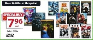 Over 54 Select DVDs on Sale