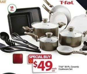 T-fal 18 Pc Ceramic Cookware Set